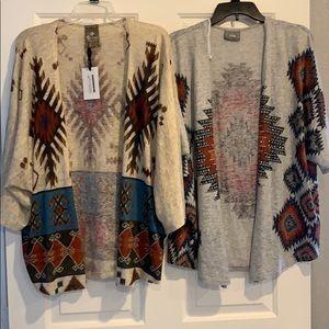 Set of 2 Vocal Aztec print cardigans